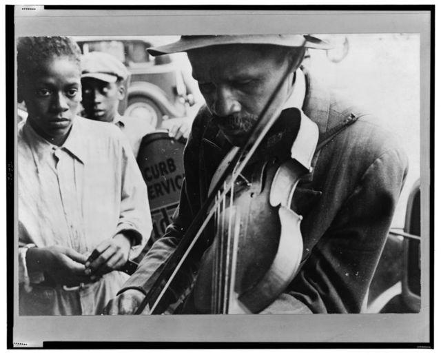 Blind street musician, West Memphis, Arkansas