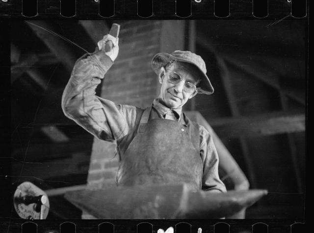 CCC (Civilian Conservation Corps) blacksmith, Pringe Georges County, Maryland