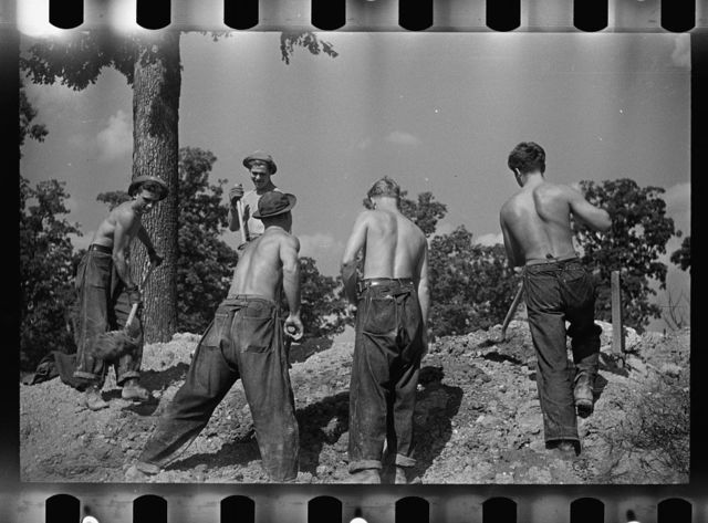 CCC (Civilian Conservation Corps) boys working, Prince George's County, Maryland
