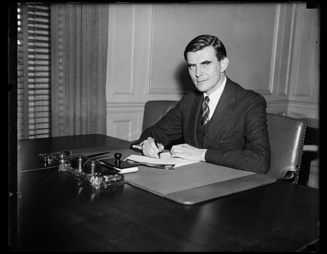 Chairman of Social Security Board, John J. Winant, former Governor of New Hampshire, and Chairman of the Social Security Board, photographed today. 9/13/35
