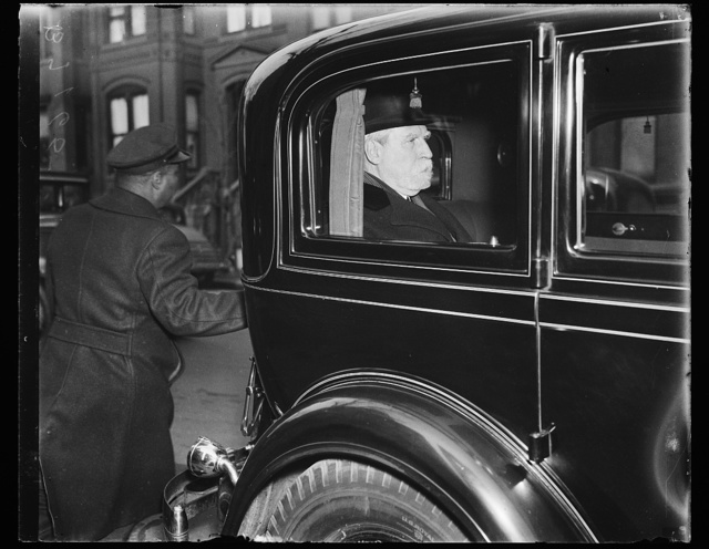 [Charles Evans Hughes in automobile]