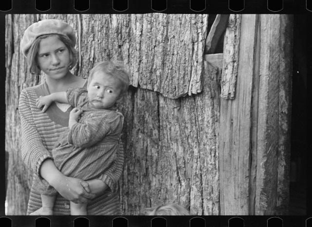 Children of Charlie Nicholson who is being resettled on new land, Virginia