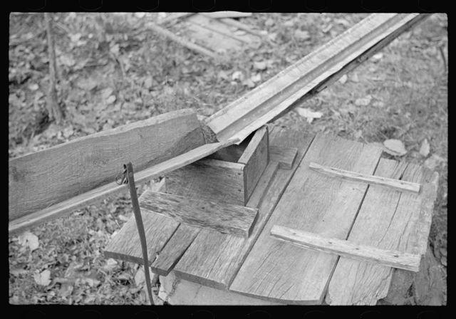 Cistern arrangement for catching water on the property of a prospective client, Brown County, Indiana