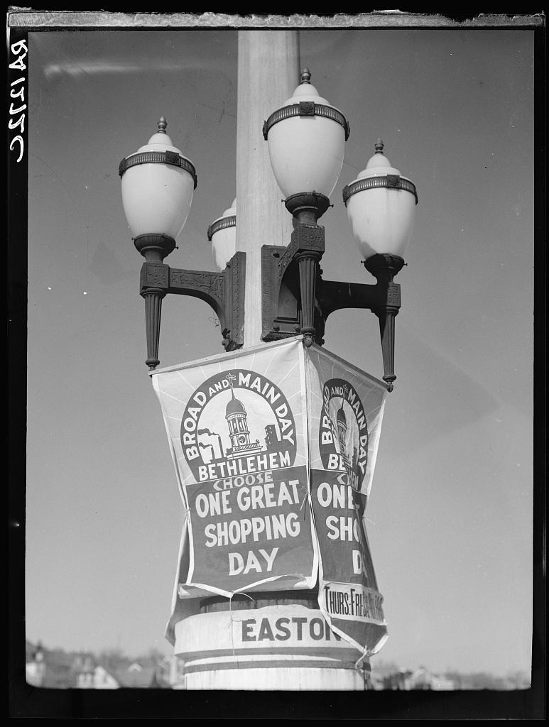 Commercial propaganda. Bethlehem, Pennsylvania