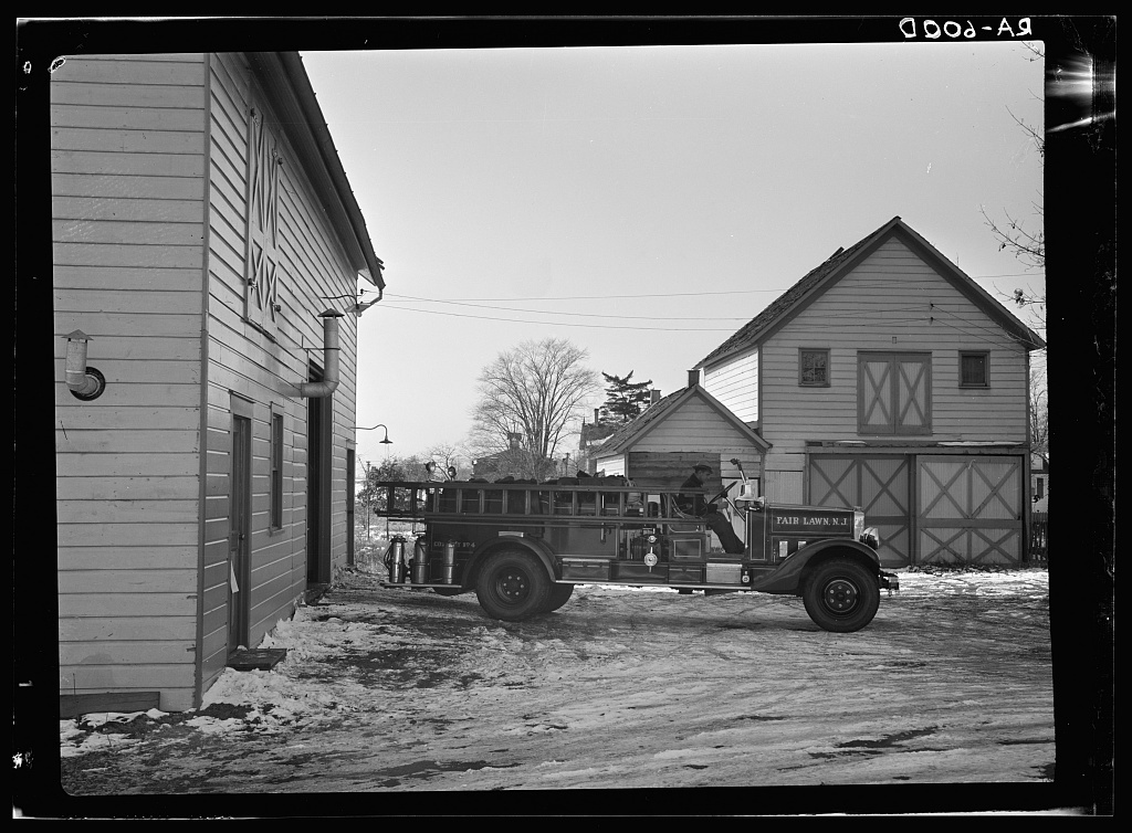 Community fire engine. Radburn, New Jersey