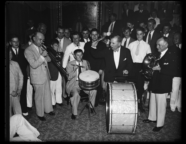 Congressional musicians. Representatives Connery, Buchanan, Sol Bloom and Sirovich, gave the House a treat last night, by playing a number of old tunes. 8/27/35