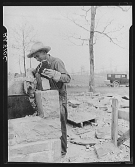 Construction on a Cumberland homestead. Crossville, Tennessee