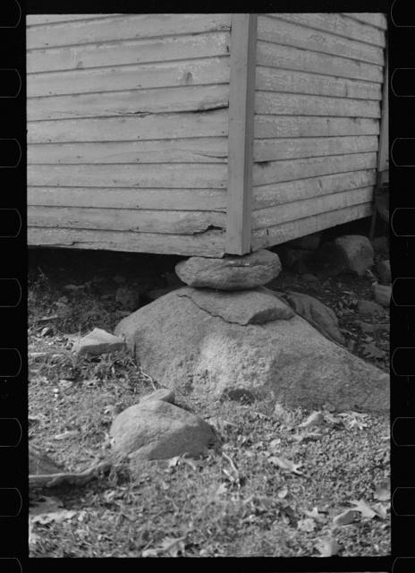 Cornerstone of church at Nicholson Hollow, Virginia