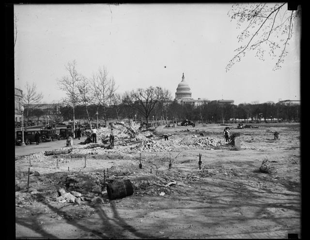 [Demolition site; U.S. Capitol in distance, Washington, D.C.]