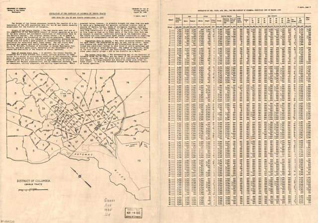 District of Columbia census tracts /