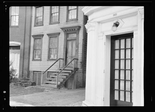 Doorway of house on Florida Avenue and 19th Street, N.W., Washington, D.C.