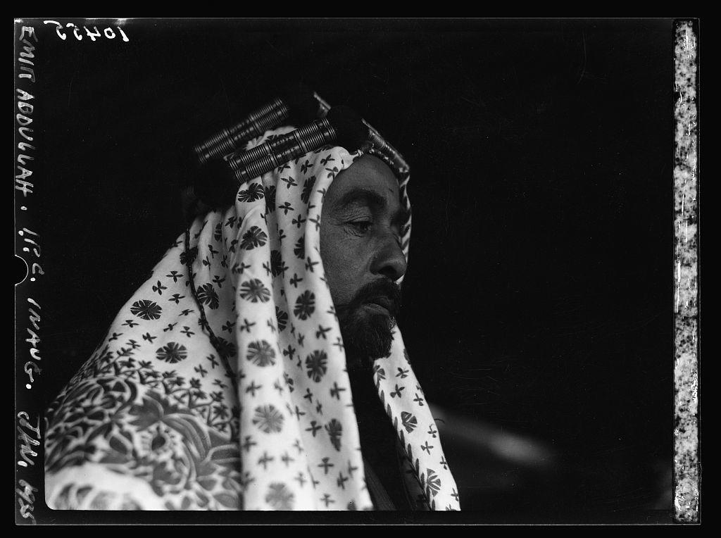 Emir Abdullah on occasion of I.P.C. [i.e., Iraq Petroleum Company] inauguration, Jan. 1935