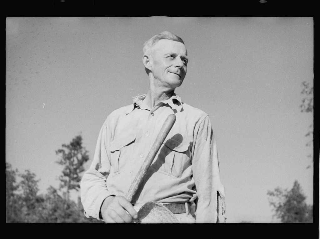 Farmer who has been resettled on good land, Dyess Colony