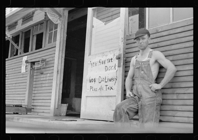 Farmer who supplements his income by selling ice, Huntsville, Arkansas