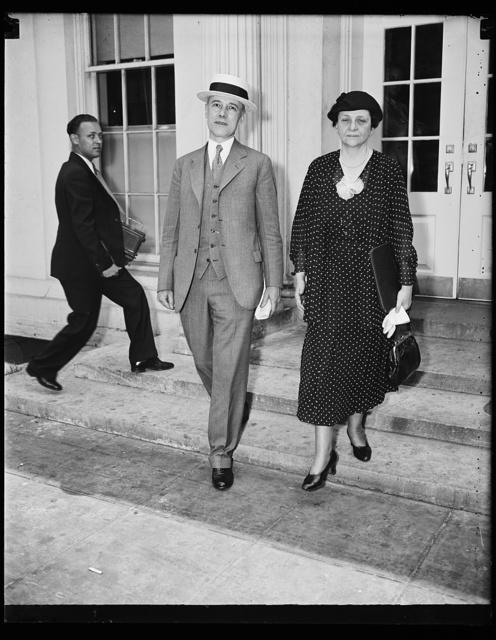 [Frances Perkins, right. White House, Washington, D.C.]