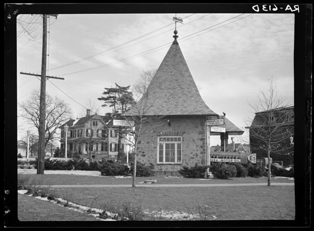 Gas station. Radburn, New Jersey