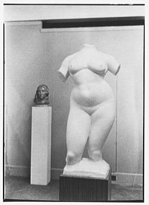 Gaston Lachaise, exhibition at Museum of Modern Art. Torso I