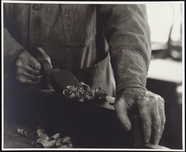 Hands with plane, Brother Ricardo Belden / Samuel Kravitt.