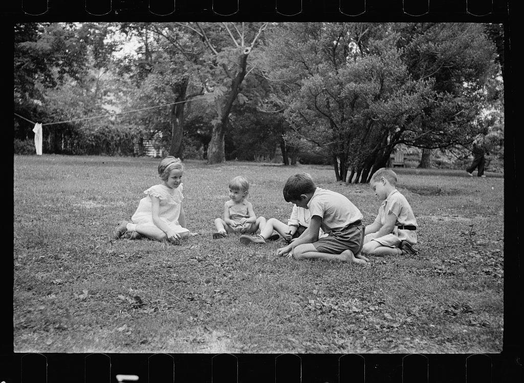 Healthy children in clean backyard, Washington, D.C.