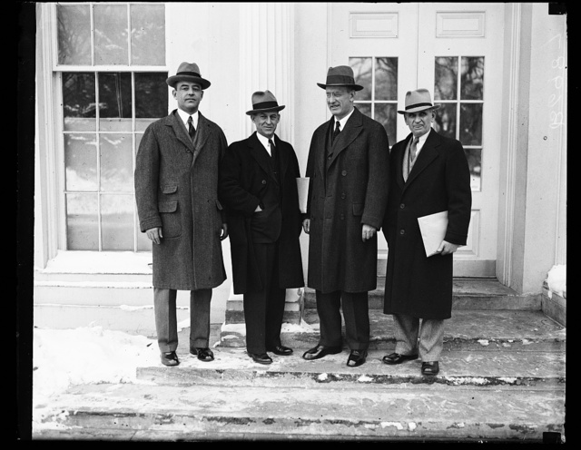 [Henry Morgenthau, 2nd from right. White House, Washington, D.C.]