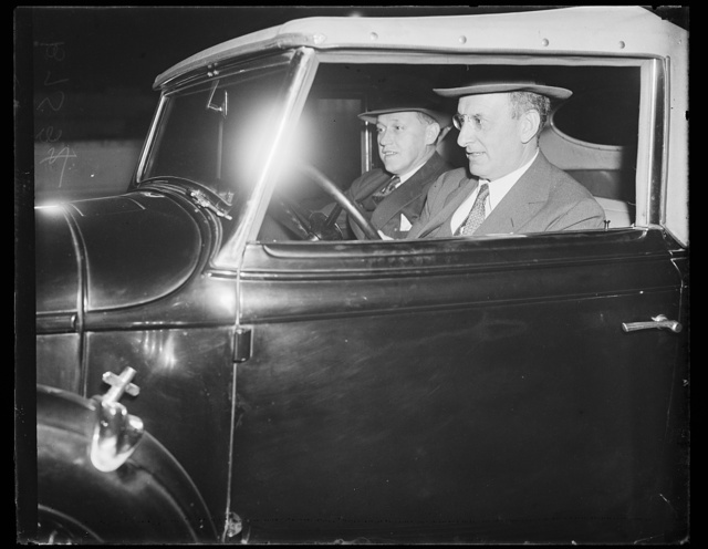 [Henry Morgenthau driving automobile]