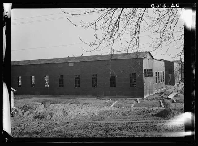 Hightstown, New Jersey. Metal sheds at the Jersey Homesteads, a U.S. Resettlement Administration subsistence homestead project