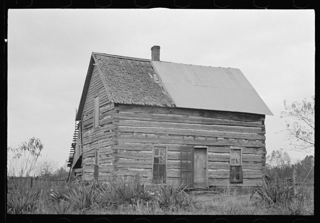 Home of prospective client whose property has been optioned by the government, Brown County, Indiana. The elderly couple who occupy this house will be moved to new land when their property has been purchased by the government