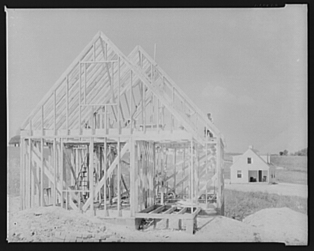 House construction. Arthurdale project. Reedsville, West Virginia