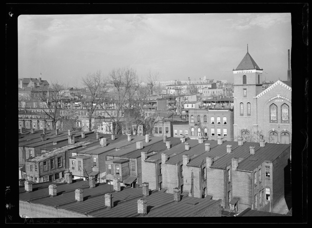 Housing in the vicinity of Pierce Street, L Street, First Street and North Capitol. Washington, D.C.