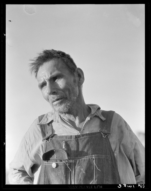 """Imperial Valley, California. Old Mexican laborer saying """"I have worked all my life and all I have now is my broken body"""""""