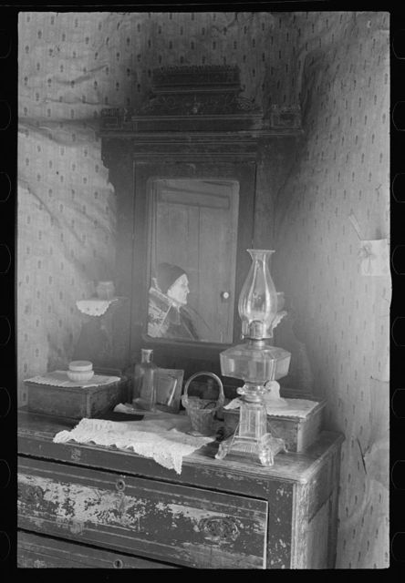 Interior of a home of a prospective client, Brown County, Indiana