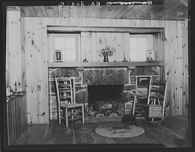 Interior of house at Cumberland Homesteads, Crossville, Tennessee