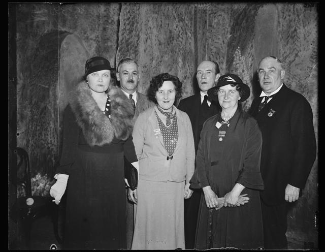 L to r: Mrs. J. Hayden, Capt. J. Hayden, M. C., Mrs. Andrew Conley, Mrs. Andrew Naesmith
