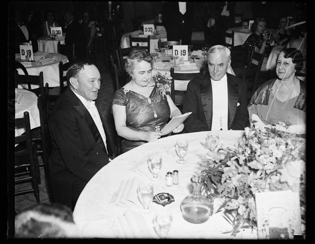 L. to rt.: Sen. Joe Robinson, Mrs. Woodrow Wilson, Sec. of State Cordell Hull