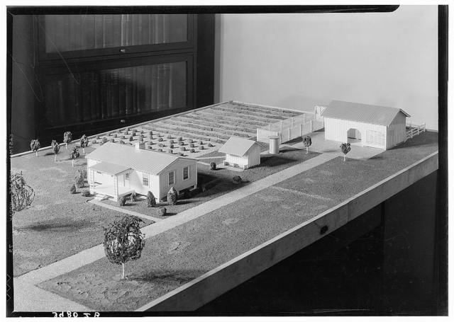 Low-cost housing model. Farm Security Administration