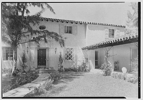 L.W. Ernst, residence at 4500 Prairie Ave., Miami Beach, Florida. Entrance facade I