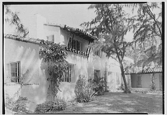 L.W. Ernst, residence at 4500 Prairie Ave., Miami Beach, Florida. Entrance facade II