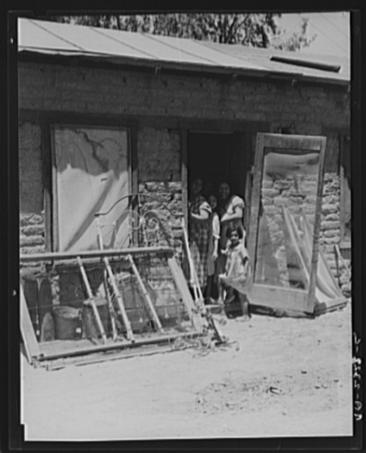 Mexican family. Brawley County, Imperial Valley, California