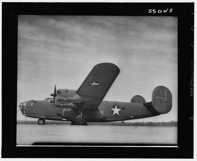 Miscellaneous collection of photographs of aircraft production. All over shot B-24. San Diego