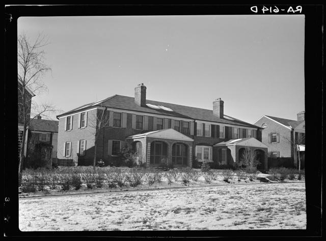 Model house of model housing community. Radburn, New Jersey