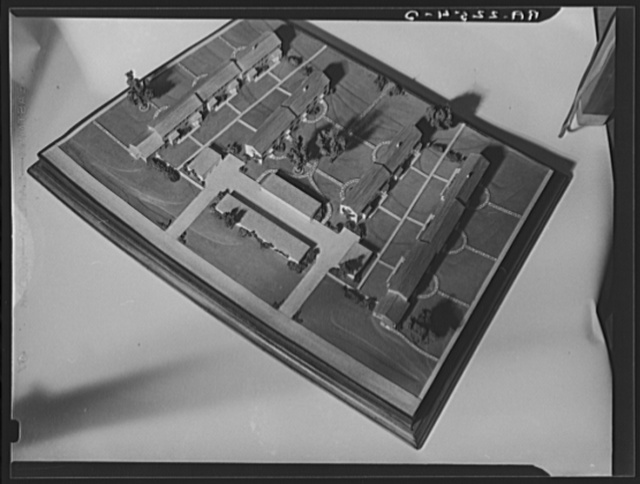 Model houses for Greenbelt, Maryland