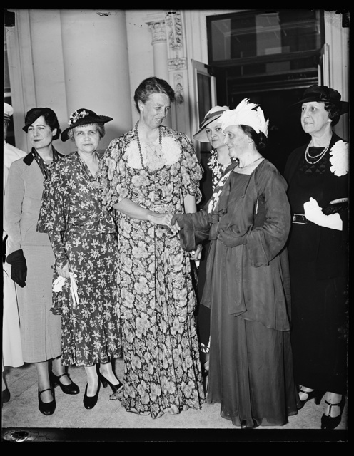 MRS. FRANKLIN ROOSEVELT WITH MME. ALBERT LEBRUN, WIFE OF FRENCH PRESIDENT