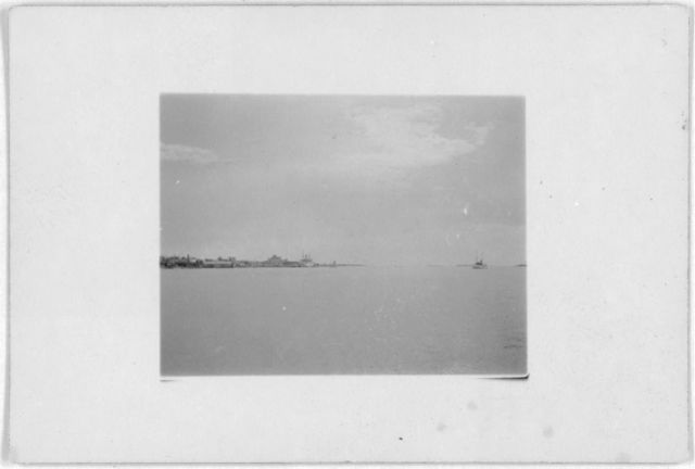 [Nassau harbor, taken during Alan Lomax and Mary Elizabeth Barnicle's recording trip to the Bahamas, 1935]