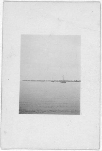 [Nassau harbor, taken from ship during Bahamas recording expedition]