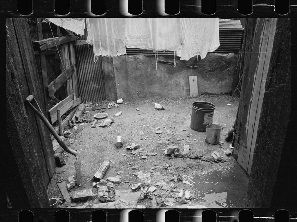Negro slum backyard, Washington, D.C.