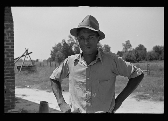 Negro tenant farmer who is being aided by the rehabilitation program, Lee County, Mississippi