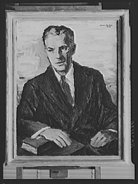 Oil painting of Administrator Tugwell by Boris Deutsch