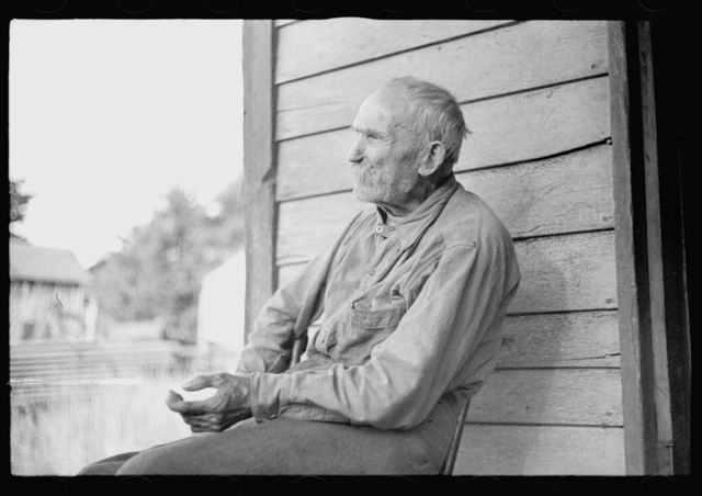 Old settler whose property has been optioned by the government, Garrett County, Maryland