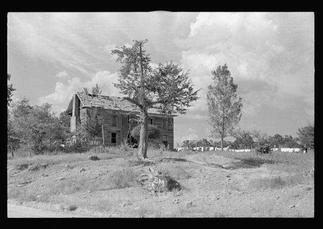 Old stage coach tavern near Huntsville, Arkansas, now inhabited by rehabilitation client