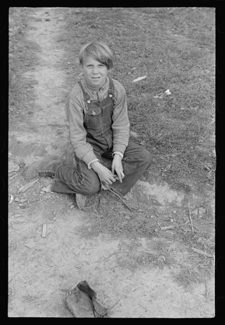 One of eight children whose family has been on relief for eighteen months, Brown County, Indiana